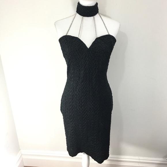 Vintage Dresses | 90s Velvet Choker Prom Dress Bodycon | Poshmark